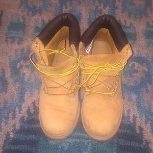 Wheat Timberland Construction Boots